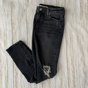 Levi 711 Skinny Gray Washed Jeans